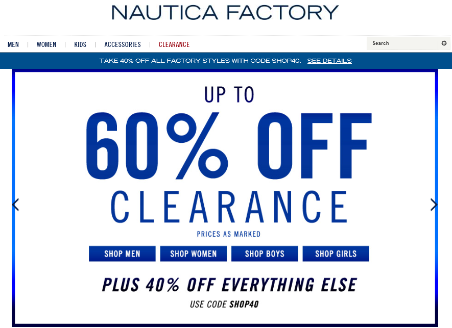 NAutica outlet